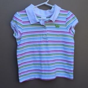 {Gymboree} Tennis Match Striped Polo Shirt